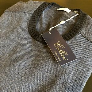 Cellini Italian Men's Navy Sweater